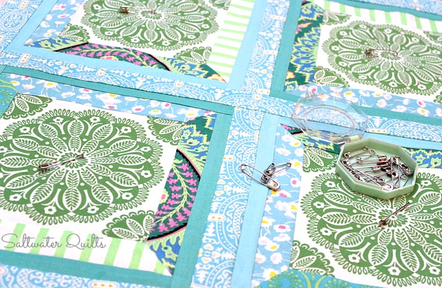 Pillow Covers| Mitered Corners Tutorial | Quilt Tutorial | © Saltwater Quilts 2012