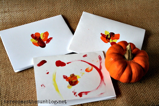 thumbprint thanksgiving card