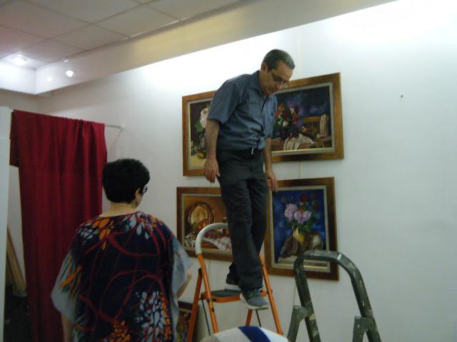 Préparatifs de l'expo de l'atelier artémisia 3