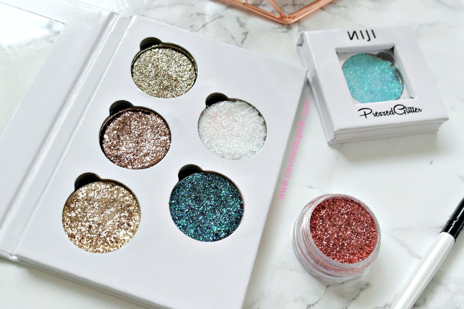 glittereyes, niji cosmetics, glitter, review, glitter lovers, glitter eyeshadow, glitter eyes