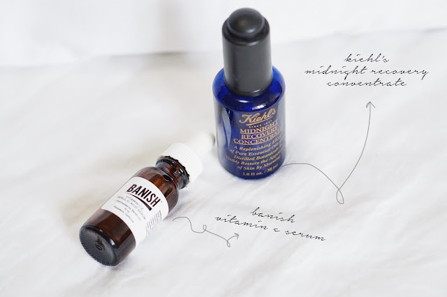 banish vitamin c serum keihl's midnight concentrate