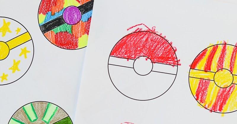 Free Printable Pokeballs Coloring Sheet For Kids And