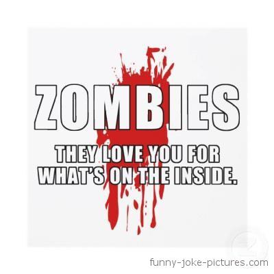 Zombie Funny Meme Caption Joke Image