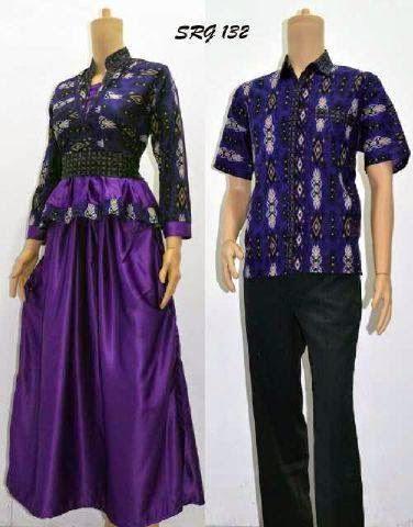 Seragam Baju Batik Pasangan Pria Dan Wanita Model Terbaru