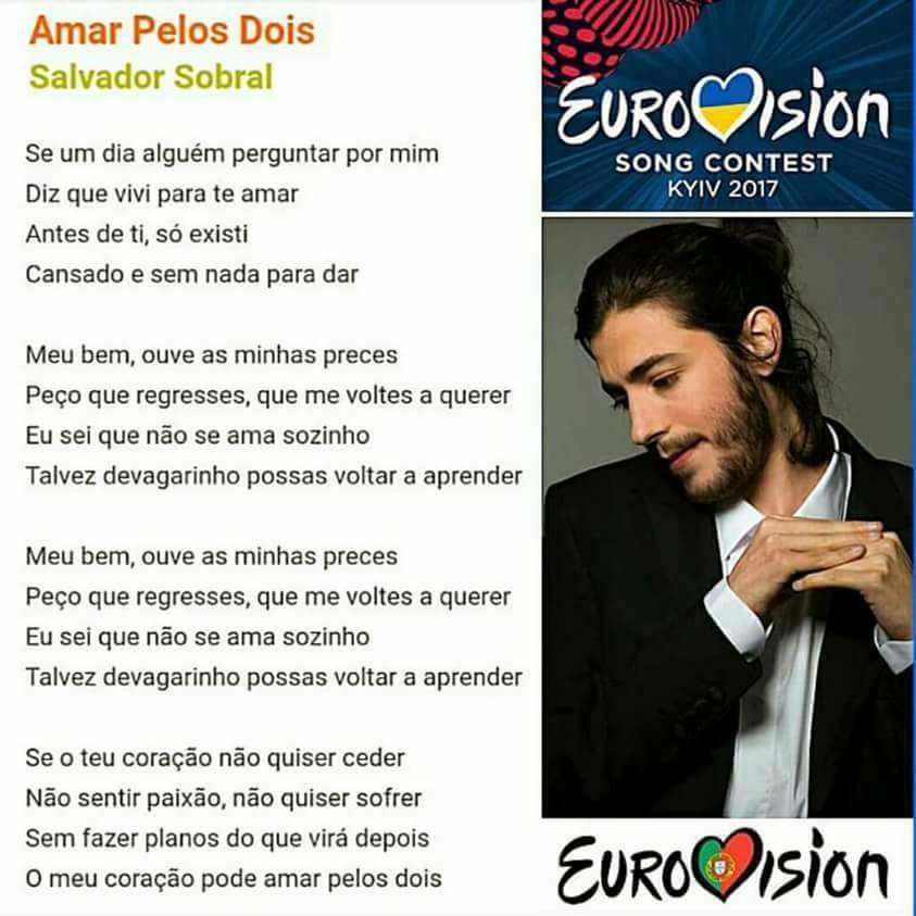 English Is Funtastic Salvador Sobral Amar Pelos Dois