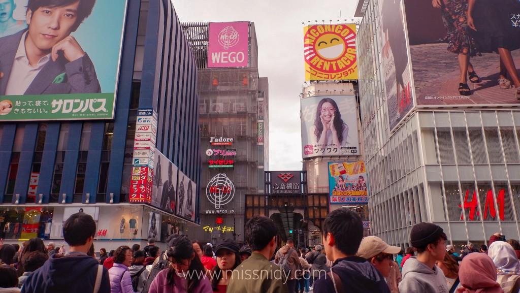 pengalaman belanja di shinsaibashi osaka