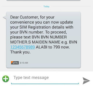 MTN sim update with BVN