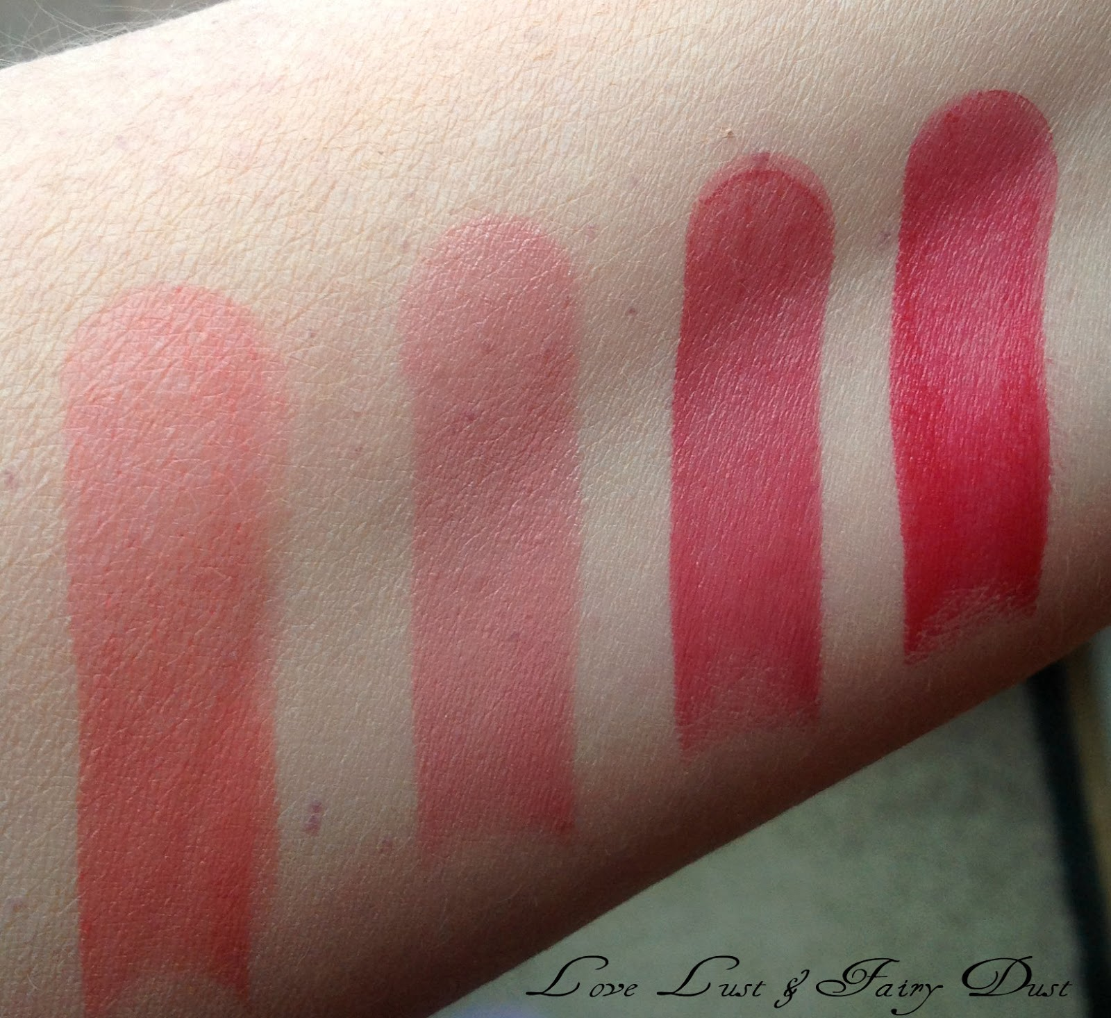 Clarins New Rouge Eclat Lipsticks swatches