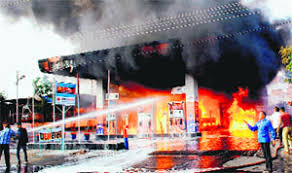 filling station burning
