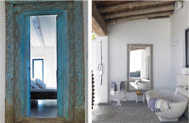 Villa Surga en Ibiza dormtiorio con baño anexo chicanddeco