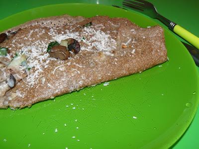 Recette mamangue Galette sarrasin aux blettes, champignons et parmesan