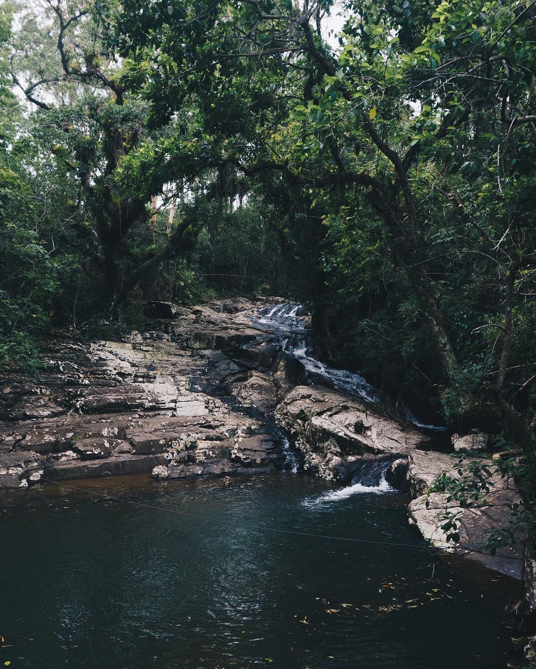 Macacu Falls in Garopaba, Brazil