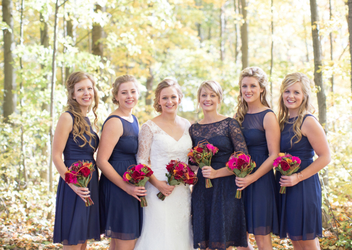 navy blue bridesmaid dresses with lace Photography: Violet Inspired Photography// Hair: Taming Rapunzel