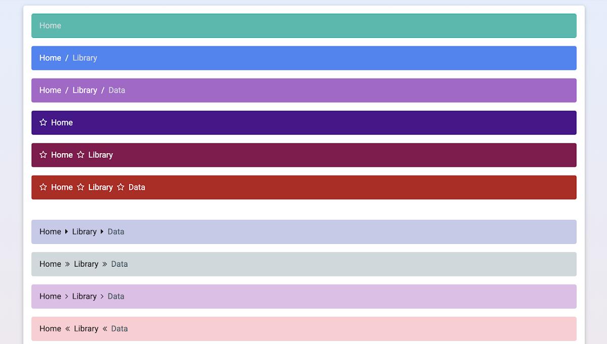 19 CSS Breadcrumbs – W3 Tweaks