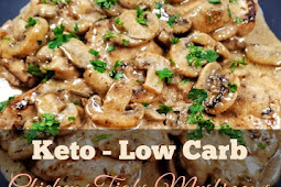 Keto Low Carb Chicken Tighs with Mushrooms Sauce