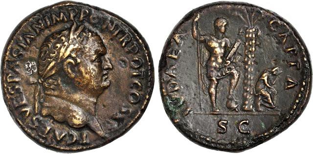 sestercio del emperador Tito - Judea Capta