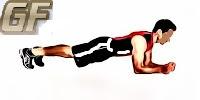 melatih otot bahu plank