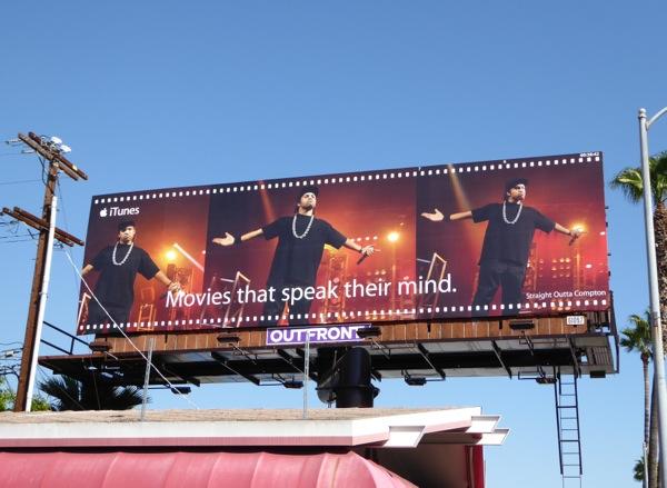 Straight Outta Compton iTunes movie billboard