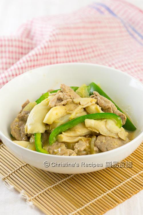 味噌蠔菇豬肉片 Miso Mushroom Pork02