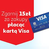 Zwrot 15 zł na zakupy za min. 90 zł w sklepach Auchan w ramach VISA Oferty