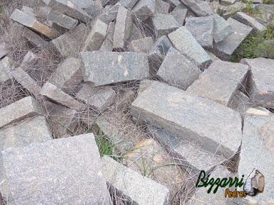 Pedra folheta para pilares de pedra.