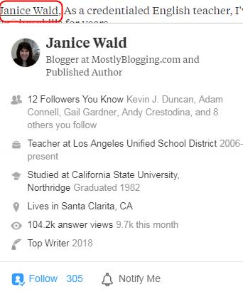 All-Information-Of-Janice-Wald-MostlyBlogging-Founder