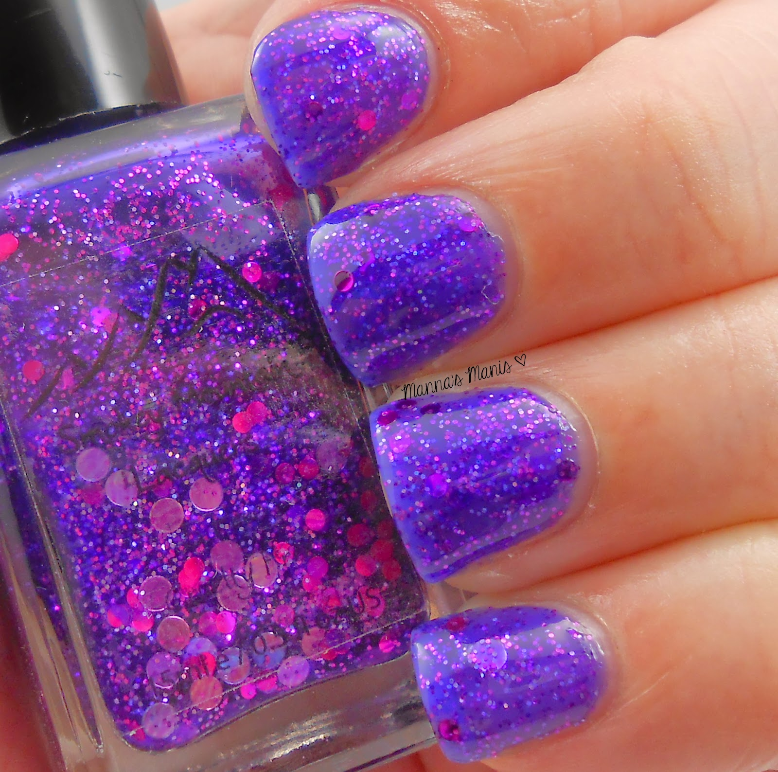 smokey mountain lacquers purple iris, a purple jelly nail polish