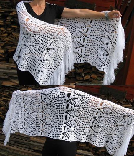 Crochet Shawls Crochet Shawl Wrap Pattern For Winter Autumn