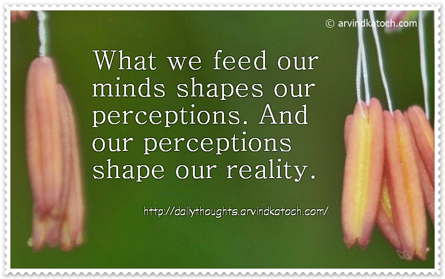 perception, reality, minds, feed, Daily Thought, Quote