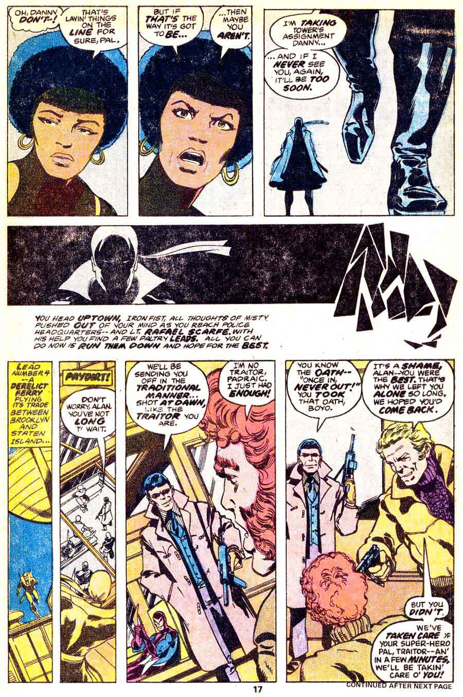 Iron Fist #13 bronze age 1970s marvel comic book page art by John Byrne