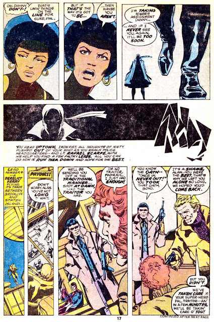 Iron Fist v1 #13 marvel bronze age comic book page art by John Byrne