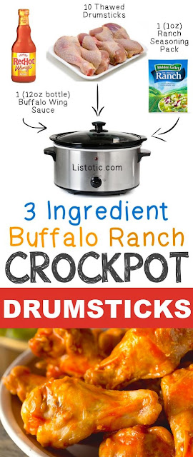 Buffalo Ranch Crockpot Drumsticks