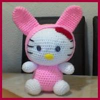 Kitty conejito amigurumi