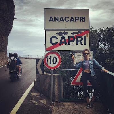 Troian Bellisario leaving Capri, Italy for her bachelorette party #bellisariogetsbooted