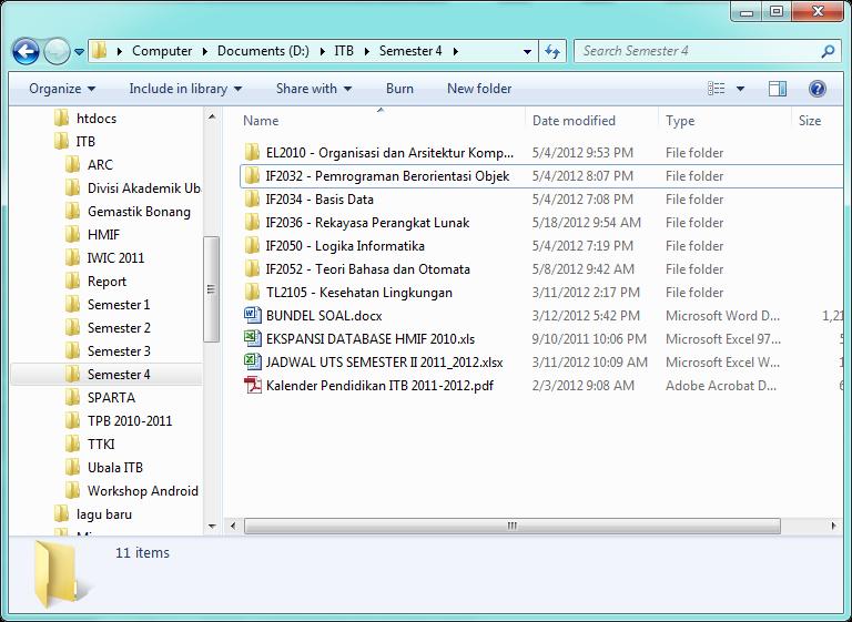 Explorer biasa dengan root folder Desktop