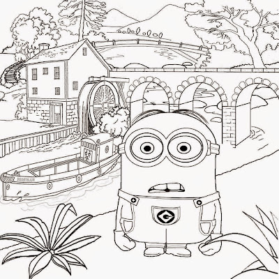 Detailed art wallpaper despicable me sketch free activities for kids minions coloring pages to print