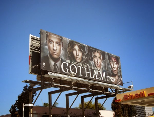 Gotham series launch billboard