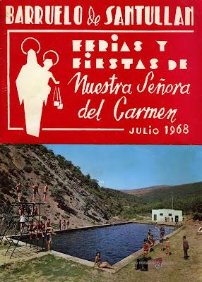 Cartel Fiestas del Carmen de Barruelo 1968
