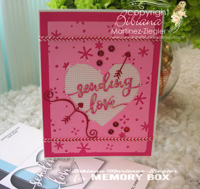 sending love card front last view with supplies