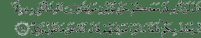 Surat Yusuf Ayat 66