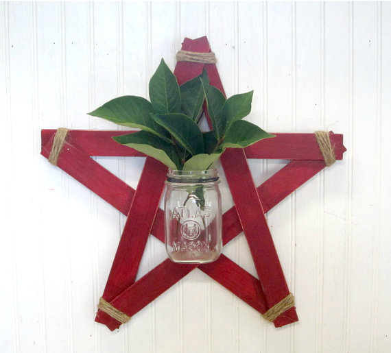 Rustic Star Jar Holder