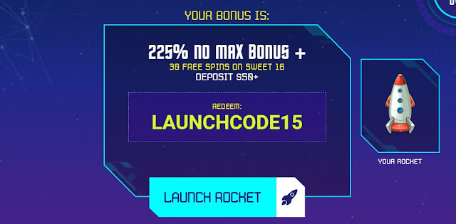 Design your Rocket Ship promotion from Planet7Oz casino