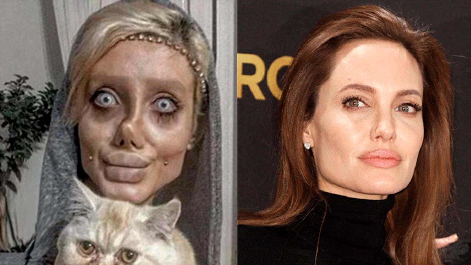04fb77a2a6214 Portal Curió  Fã de Angelina Jolie passa por transformação ...