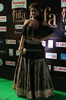 Ritika Singh in a Ethnic Deep Neck Dark Green Choli Ghagra at IIFA Utsavam Awards March 2017 ~ 046.JPG