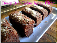 Resep Bolu Kukus Ketan Hitam ( Black Sticky Rice Steamed Sponge )