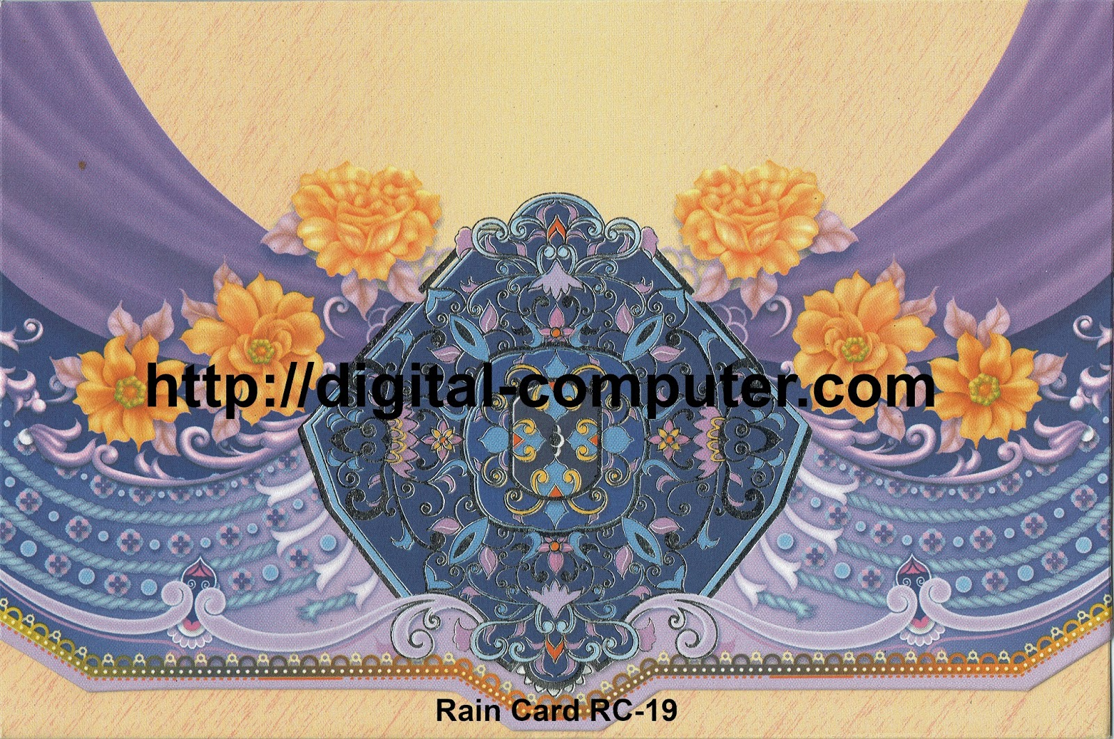 Undangan Softcover Rain Card RC-19