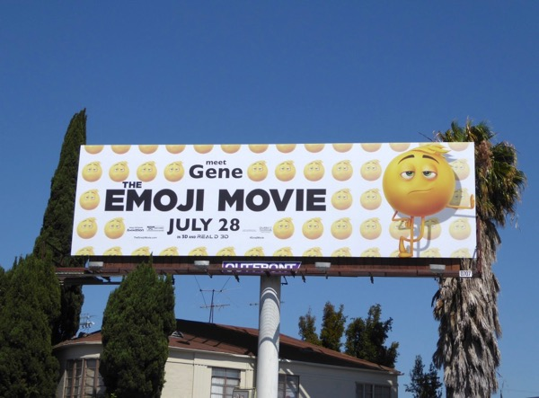 Emoji Movie Meet Gene billboard
