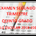 EXAMEN QUINTO GRADO (segundo trimestre) CICLO ESCOLAR 2018-2019.