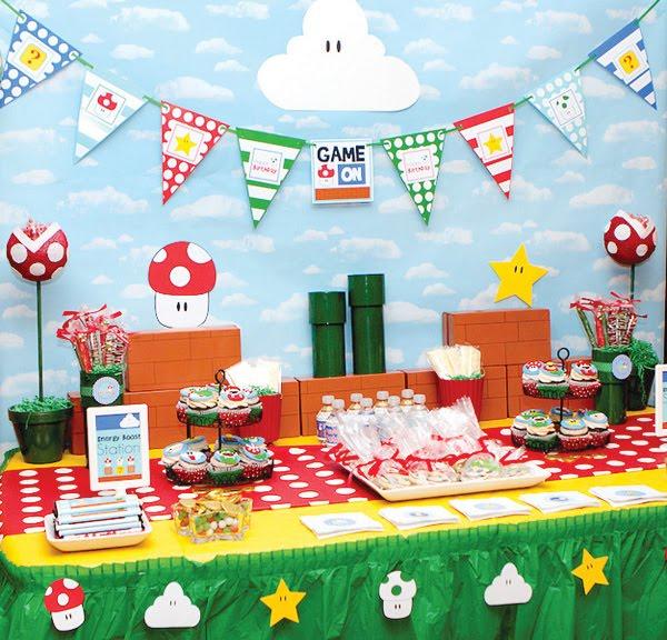 Tema Festa Infantil Mario Bros