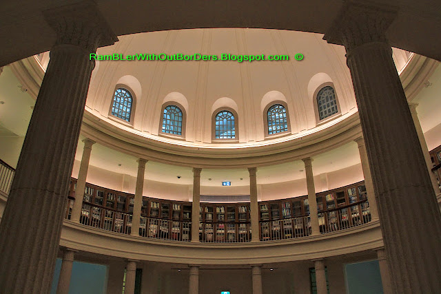 Interior, Law Library, Dome, National Gallery Singapore, Old Supreme Court building, Singapore
